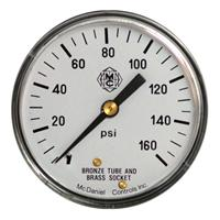 "Stainless Steel Case 2"" Utility Gauges"